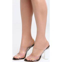 Czarne Sandały Mood For Love. Czarne sandały damskie na słupku marki Born2be, z materiału, na wysokim obcasie. Za 89,99 zł.