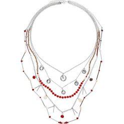 Łańcuszki damskie: Wielorzędowy łańcuszek bonprix srebrny kolorowy - koralowy