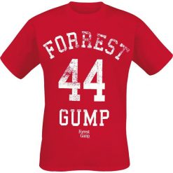 Forrest Gump 44 T-Shirt czerwony. Czerwone t-shirty męskie z nadrukiem Forrest Gump, s, z okrągłym kołnierzem. Za 42,90 zł.