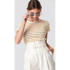 MANGO T-shirt Popeye - White,Yellow. Białe t-shirty damskie Mango, z materiału, z okrągłym kołnierzem. Za 52,95 zł.