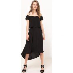Długie sukienki: Półdługa sukienka na uroczyste okazje, cienkie ramiączka