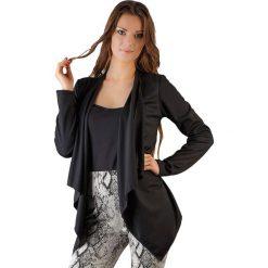 Kardigany damskie: Narzutka w kolorze czarnym