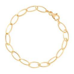 Bransoletki damskie: Wspaniała Bransoletka Złota - złoto żółte 585