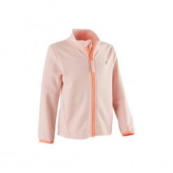 Bluza na zamek Gym & Pilates 100 dla maluchów. Białe bluzy niemowlęce marki FOUGANZA, z bawełny. Za 44,99 zł.