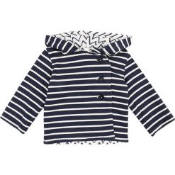 Swetry dziewczęce: Sense Organics ZGREEN BABY ARON REVERSIBLE JACKET Kardigan navy stripes/zigzag
