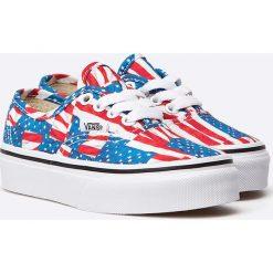 Vans - Tenisówki dziecięce Authentic. Szare buty sportowe dziewczęce marki Vans, z gumy, na sznurówki. W wyprzedaży za 99,90 zł.