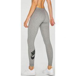 Nike - Legginsy. Szare legginsy we wzory Nike, m, z bawełny. W wyprzedaży za 99,90 zł.