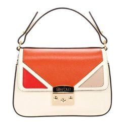 Torebki klasyczne damskie: Skórzana torebka w kolorze beżowym – (S)24 x (W)27 x (G)9 cm