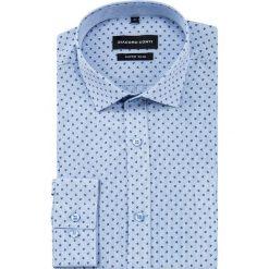 Koszula MICHELE KDNE000403. Szare koszule męskie na spinki marki S.Oliver, l, z bawełny, z włoskim kołnierzykiem, z długim rękawem. Za 169,00 zł.