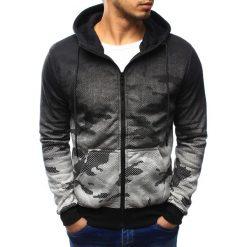 Bluzy męskie: Bluza męska camo rozpinana szara z kapturem (bx3175)