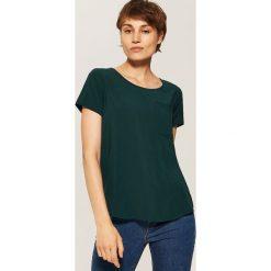 Bluzki asymetryczne: Bluzka z kieszonką - Khaki