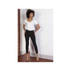 Spodnie z wysokim stanem, SD115. Czarne spodnie z wysokim stanem Lanti. Za 139,00 zł.