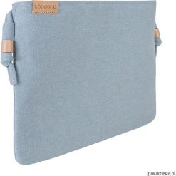 Puzderka: Nodo Bag niebieska torebka /kopertówka z paskiem