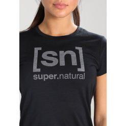 Topy sportowe damskie: super.natural ESSENTIAL TEE Tshirt z nadrukiem jet black/vapor grey