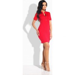 Elegancka dopasowana sukienka z guziczkami czerwony TAYLOR. Niebieskie sukienki balowe marki numoco, na imprezę, s, w kwiaty, z jeansu, sportowe. Za 94,90 zł.