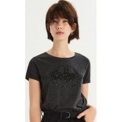 T-shirt Batman - Szary. Szare t-shirty damskie Sinsay, l, z motywem z bajki. Za 39,99 zł.