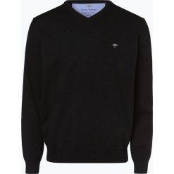 Fynch Hatton - Sweter męski, czarny. Czarne swetry klasyczne męskie Fynch-Hatton, l, z bawełny, z klasycznym kołnierzykiem. Za 249,95 zł.