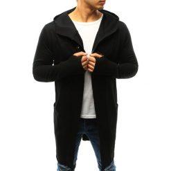 Bluzy męskie: Bluza męska rozpinana z kapturem czarna (bx3246)