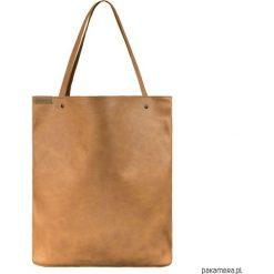 Shopper XL torba ruda / rdzawa na zamek. Brązowe shopper bag damskie Pakamera, na ramię. Za 155,00 zł.