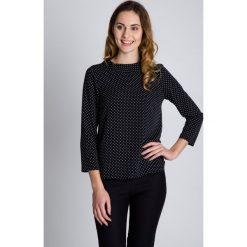 Bluzki asymetryczne: Czarno-biała bluzka z rękawem 3/4 BIALCON