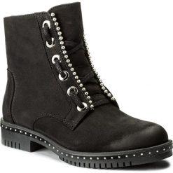Botki CARINII - B4254 360-000-POL-C50. Czarne buty zimowe damskie Carinii, z nubiku. W wyprzedaży za 249,00 zł.