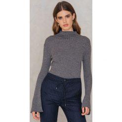 Swetry klasyczne damskie: Second Female Sweter z półgolfem Bini – Grey