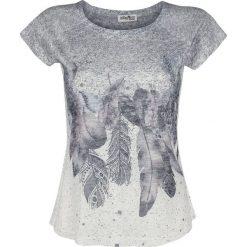 Innocent Feather Drop T Koszulka damska wielokolorowy. Niebieskie bluzki na imprezę marki Innocent, xl, w ażurowe wzory, z materiału, z dekoltem na plecach. Za 121,90 zł.