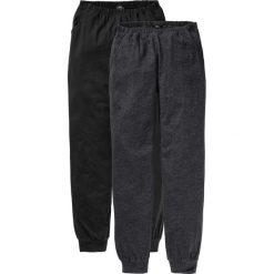 Piżamy damskie: Spodnie piżamowe (2 pary) bonprix antracytowy melanż + czarny