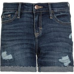 Abercrombie & Fitch CORE MIDI Szorty jeansowe dark destroy. Niebieskie szorty jeansowe damskie Abercrombie & Fitch. Za 129,00 zł.