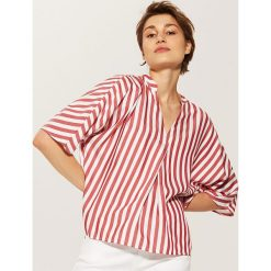 Bluzki asymetryczne: Bluzka z zakładką - Czerwony