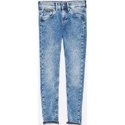 Pepe Jeans - Jeansy dziecięce Snicker 128-188 cm. Niebieskie jeansy dziewczęce Pepe Jeans, z bawełny. W wyprzedaży za 149,90 zł.