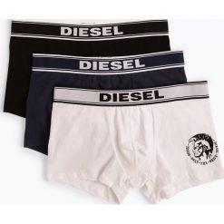 Diesel - Obcisłe bokserki męskie pakowane po 3 szt., czarny. Czarne bokserki męskie marki Diesel, z bawełny. Za 179,95 zł.