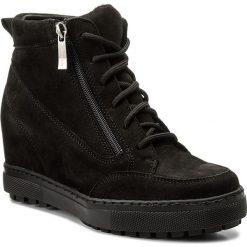 Sneakersy WASAK - 0489  Czarny Nubuk. Czarne sneakersy damskie Wasak, z nubiku. W wyprzedaży za 239,00 zł.