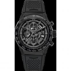ZEGAREK TAG HEUER CARRERA Calibre Heuer 01 CAR2A91.FT6071. Czarne zegarki męskie TAG HEUER, ceramiczne. Za 25090,00 zł.