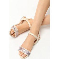 Rzymianki damskie: Beżowe Sandały Prism