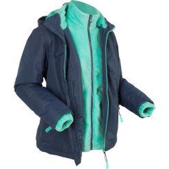 Kurtka outdoorowa 3 w 1, z bluzą z polaru bonprix ciemnoniebiesko-niebieski mentolowy. Niebieskie bluzy polarowe marki bonprix, s. Za 249,99 zł.