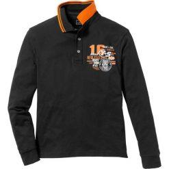Koszulki polo: Shirt polo z długim rękawem Regular Fit bonprix czarny