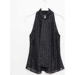 Bluzka. Czarne bluzki wizytowe marki Simple, eleganckie. Za 199,90 zł.