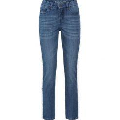 """Dżinsy RELAXED z frędzlami bonprix niebieski """"stone"""". Niebieskie jeansy damskie relaxed fit marki Reserved. Za 49,99 zł."""