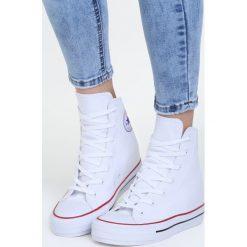 Białe Sneakersy Linden. Białe sneakersy damskie Born2be, z bawełny. Za 34,99 zł.