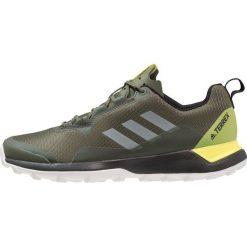 Adidas Performance TERREX CMTK Obuwie hikingowe base green/grey one/shock yellow. Zielone buty sportowe męskie adidas Performance, z materiału, outdoorowe. Za 399,00 zł.