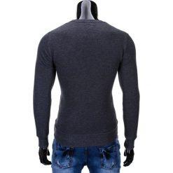 BLUZA MĘSKA BEZ KAPTURA ERICO B575 - GRAFITOWA. Szare bluzy męskie marki Ombre Clothing, m, z bawełny, bez kaptura. Za 59,00 zł.
