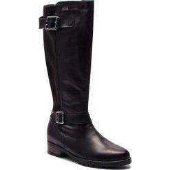 Oficerki REMONTE BY RIEKER - D8284-01 Schwarz. Czarne buty zimowe damskie marki Remonte by Rieker, z materiału. W wyprzedaży za 319,00 zł.