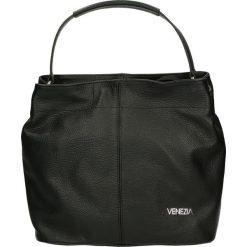 Torba - 67-2-O D NERO. Szare torebki klasyczne damskie Venezia, w paski, ze skóry. Za 239,00 zł.