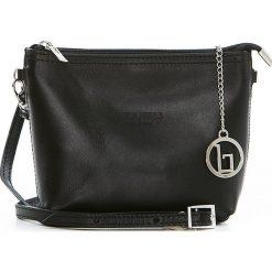 Torebki klasyczne damskie: Skórzana torebka w kolorze czarnym – 20 x 16 x 6 cm