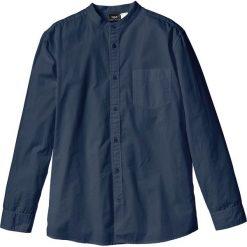 Koszula z długim rękawem Regular Fit bonprix ciemnoniebieski. Białe koszule męskie na spinki marki bonprix, z klasycznym kołnierzykiem, z długim rękawem. Za 37,99 zł.