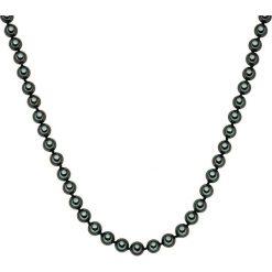 Naszyjniki damskie: Naszyjnik z pereł w kolorze tahiti – dł. 90 cm