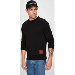 Calvin Klein - Bluza. Czarne bejsbolówki męskie Calvin Klein, l, z bawełny, bez kaptura. Za 399,90 zł.