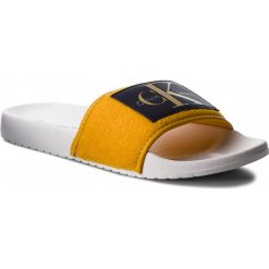 Klapki CALVIN KLEIN JEANS - Val Felt SE8599 Gold. Żółte klapki męskie marki Calvin Klein Jeans, z jeansu. Za 209,00 zł.