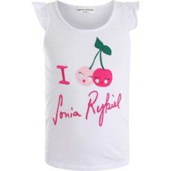Sonia Rykiel ACHERRY Tshirt z nadrukiem blanc. Białe t-shirty chłopięce Sonia Rykiel, z nadrukiem, z bawełny. Za 169,00 zł.